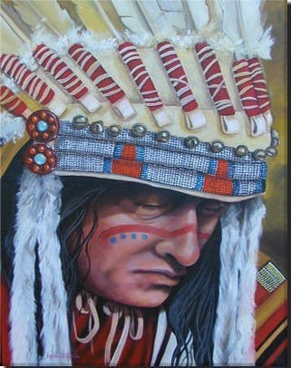 Tribal Leader 16x20